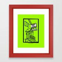 Sam's Pit Late Nite Bar … Framed Art Print