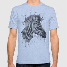 DARK ZEBRA Mens Fitted Tee Athletic Blue SMALL