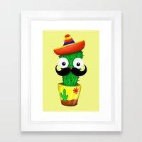 Mr Cactus Framed Art Print