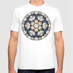 Abstract 3D Cubes Mandala Mens Fitted Tee White SMALL