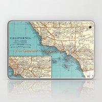So Cal Surf Map Laptop & iPad Skin