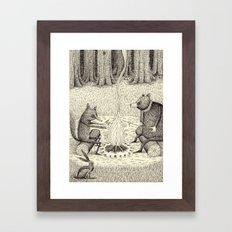'Camp Fire' Framed Art Print