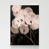 seeds bokeh Stationery Cards