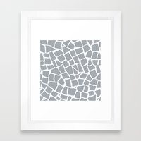 Mosaic Zoom Grey Framed Art Print