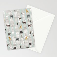 urban jungle silver mint Stationery Cards