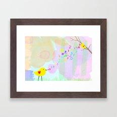 Sing from the Heart Framed Art Print