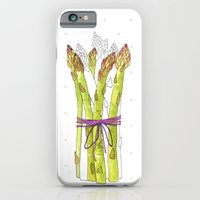 iPhone & iPod Case featuring asparagus and mushrooms by youdesignme