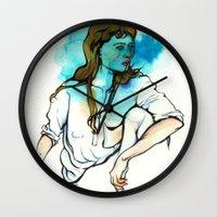 Aquarius (Zodiac Series) Wall Clock
