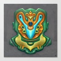 Summer Totem Green Canvas Print