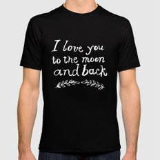 To the Moon and Back Mens Fitted Tee Black SMALL