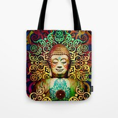 Heart of Transcendence - Colorful Buddha Art With Heart Vajra Tote Bag