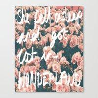 SHE FELL ASLEEP AND GOT … Canvas Print