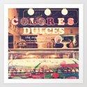 Sweet Colours (Retro Cupcake store) Art Print