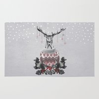 Christmas Deer (by Maria… Rug