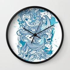 Random Doodle Wall Clock