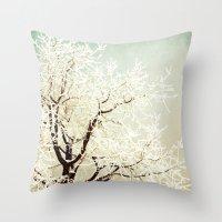 Frozen Tree Throw Pillow