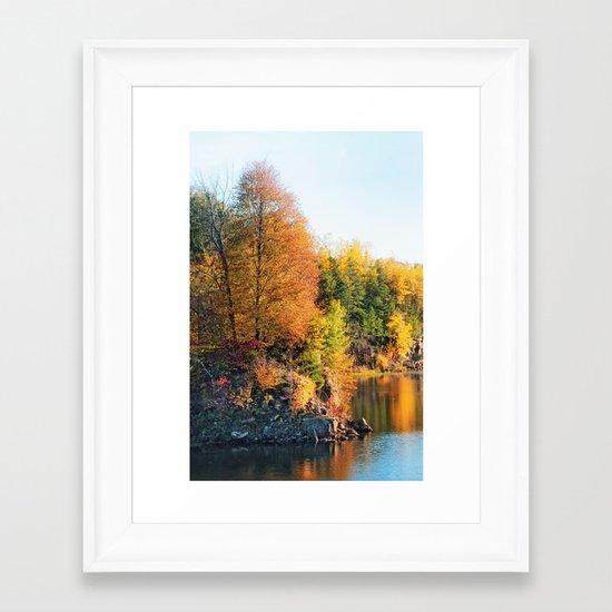 Changing Color Framed Art Print