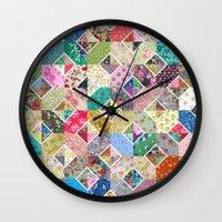 Betty's Diamond Quilt Wall Clock