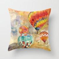 Balloons Throw Pillow