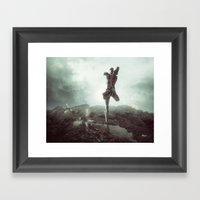 Early morning, goodbye to lost love. Framed Art Print
