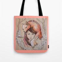 Safe In My Red Riding Ho… Tote Bag