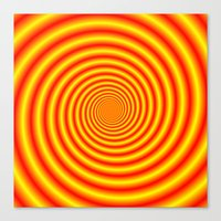 Yellow into Red via Orange Spiral Canvas Print