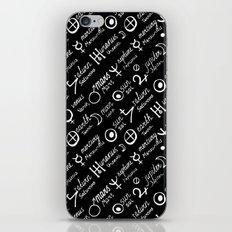 Dark magic print iPhone & iPod Skin