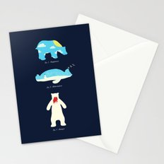 The 3 H's of Bear Life Stationery Cards