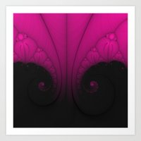 Pink and Black 2 Art Print