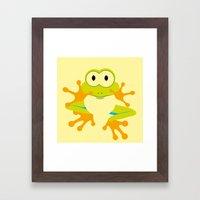 Minimal Tree Frog Framed Art Print