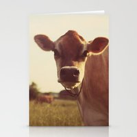 cow Stationery Cards featuring cow by Beverly LeFevre