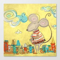 Urban Mouse - Yellow Canvas Print