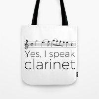 I speak clarinet Tote Bag