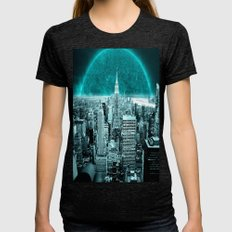 Another World Womens Fitted Tee Tri-Black SMALL