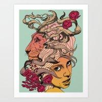 Lioness - Recolor Art Print