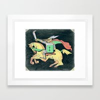 A Knight of Literacy Framed Art Print