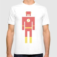 Retro Flash Mens Fitted Tee White SMALL
