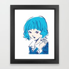 SHANNON GOT A NEW HAIR STYLE Framed Art Print