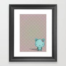 kawaii Bear Framed Art Print
