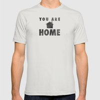 You Are Home Mens Fitted Tee Silver SMALL