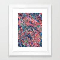 Opalescent Marble Framed Art Print