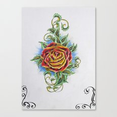 Ornamental Rose Canvas Print
