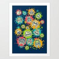 Splat Festival Art Print