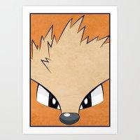Arcanine - Pokemon 1st Generation Art Print