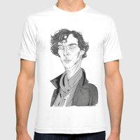Benedict Cumberbatch - Sherlock Mens Fitted Tee White SMALL