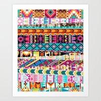 Tribal Mix Art Print