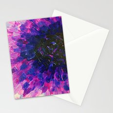 VACANCY - LIMITLESS Bold Eggplant Plum Purple Abstract Acrylic Painting Floral Macro Colorful Void Stationery Cards