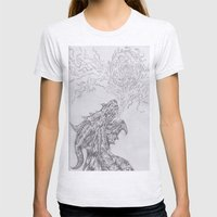 dragon fire artist Womens Fitted Tee Ash Grey SMALL