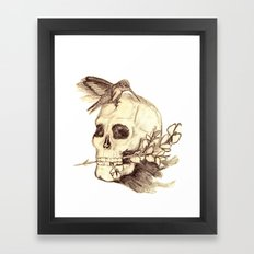flying away with the time Framed Art Print