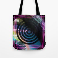 Abstract Record Label Tote Bag